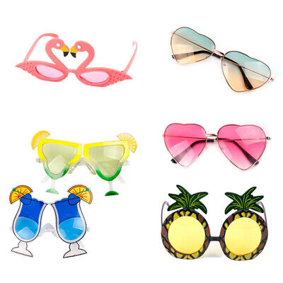 Hawaiian Tropical Sunglasses Glasses Summer Party Fancy Dress Costume (Tropical Sunglasses)