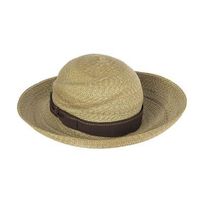 53910 auth JIL SANDER beige Straw Hat Sz S / M