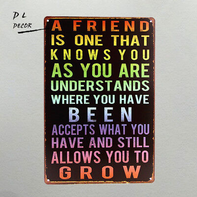 DL-A FRIEND is one that know you Retro Wall ART Poster Vintage Craft Gift
