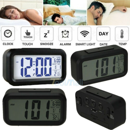 Digital Alarm LED Clock Light Control Backlight ...