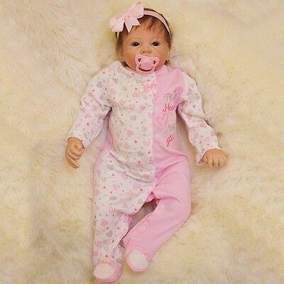 22'' Lifelike Newborn Silicone Vinyl Reborn Baby Doll Handmade Reborn Dolls Gift