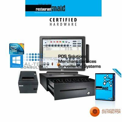 Maid Pos Restaurant Bar Bakery Complete Pos System 1 Station Hp All-in-one Fast