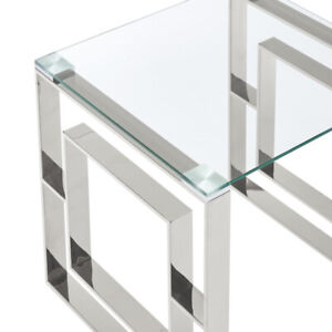 Sample Sale! Console Table in Silver 502-482CH