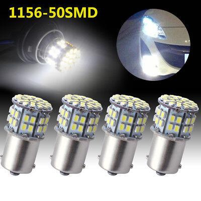 4x Cool White 1156 BA15S 50-SMD Car RV Tail Backup LED Light Bulb 1141 1073 1003