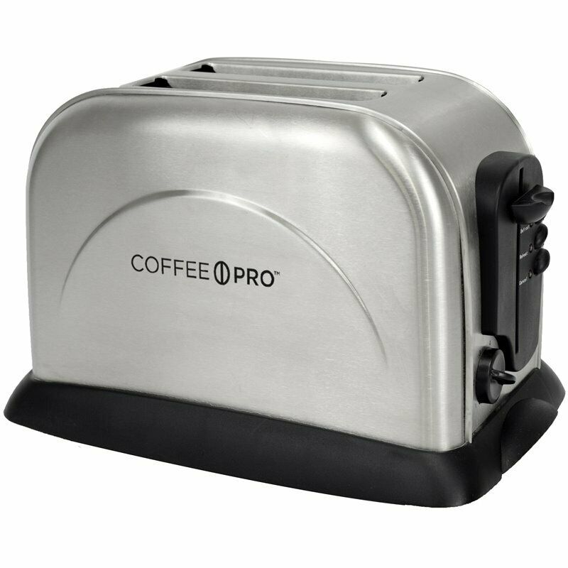 Coffee Pro 2 Slice Stainless Steel Toaster With Electronic Panel