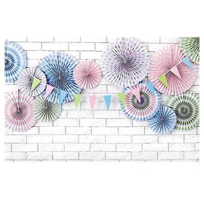 3 Papierfächer (Deko-Rosetten 3 teilig Papier Wanddekoration Partyfächer Geburtstag Party bunt)