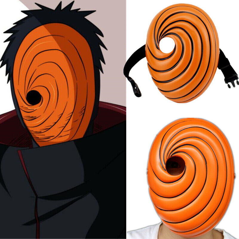 COSPLAY Props Uchiha Obito Orange Resin Party Halloween Tobi Facepiece Gift Ao