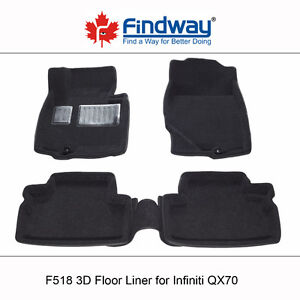 All weather 3D Car Floor Liners for 2014-2017 Infiniti QX70