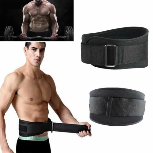 Weight Lifting Belt Gym Fitness Exercise Nylon Waist Support Straps Back Brace