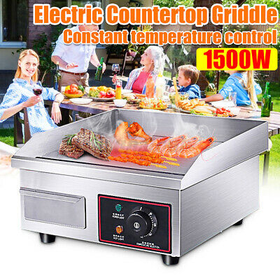110v 1500w Electric Griddle Flat Top Grill 14 Hot Plate Bbq Countertop Home Usa