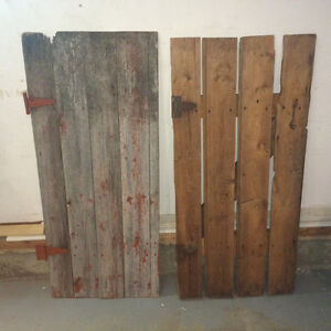 Small Antique Barn Wood Doors