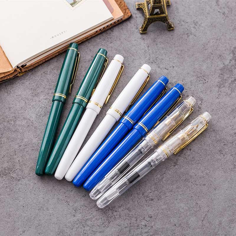 Wing Sung LORELEI 3008 Plastic China Fountain Pen Push Fine 0.5mm Writing Gift