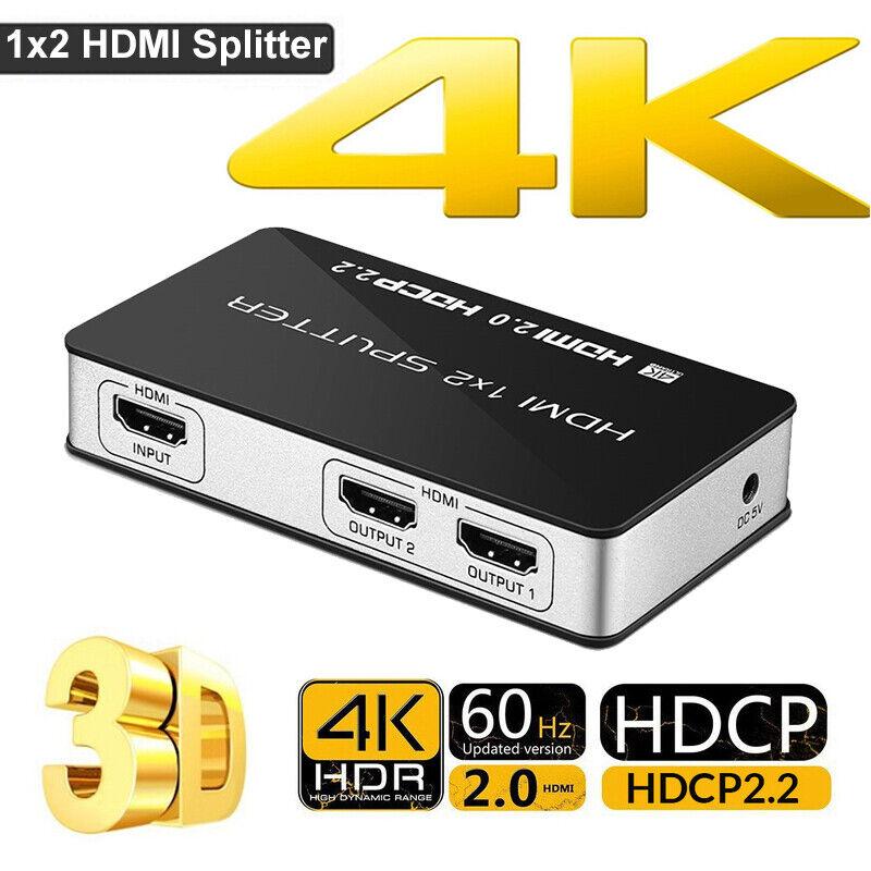 1x2 hdmi splitter 4kx2k fhd 1080p 4k