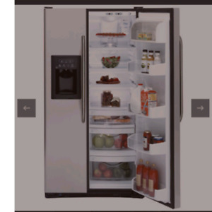 GE 25.4 Cu. Ft. Stainless Side-by-Side Refrigerator  GSS25XSRSS
