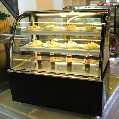 Refrigerated Bakery Showcase Pie Display Cabinet Commercial220v Cake Case 35.4in