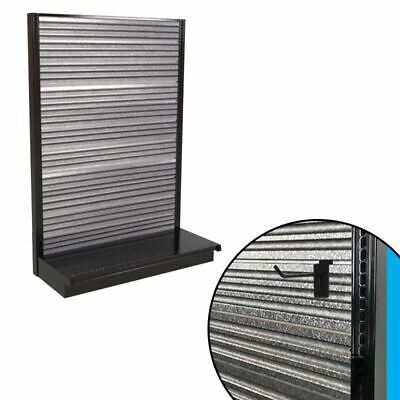 Corrugated Metal Slatwall Gondola Shelving Galvanized Single-sided 48x72h