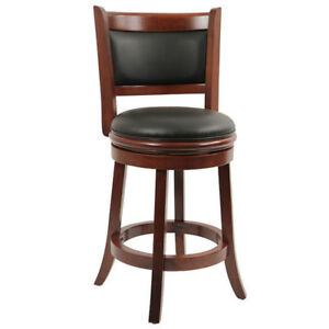 Kitchen/ Bar Swivel Stool, 24-Inch, Cherry Boraam 49824 Augusta