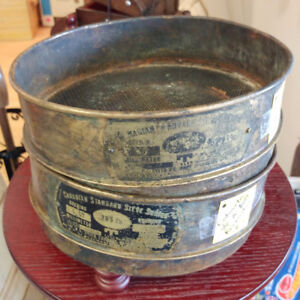 Vintage Gold Panning Sieves From Quesnel/Barkerville Area