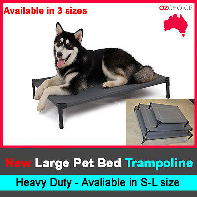 New Large Dog Puppy Cat Pet Bed Trampoline Heavy Duty Frame Hammock Canvas S M L