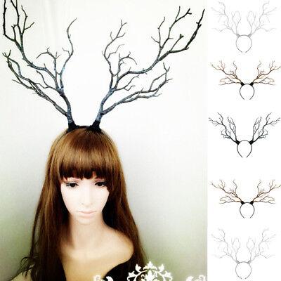 Headband Gothic Halloween Branches Xmas Antler Costume Women Hairband Props