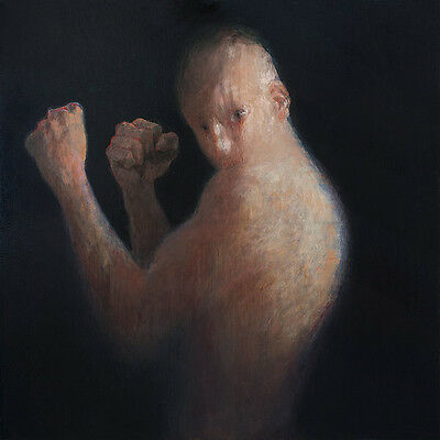 Boxer, Fighter, Man Male Torso Modern Art Original Oil Painting, Pojani, ipalbus