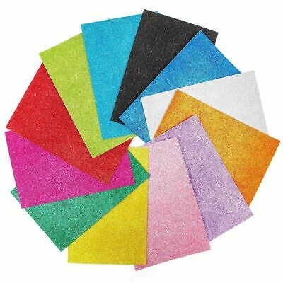 Glitter Foam Sheets (48Pcs 12 Colors Eva Glitter Foam Sheets 6