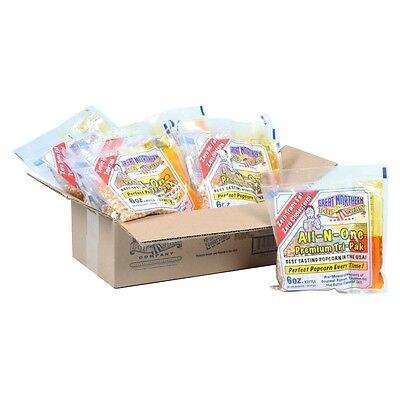 الة صنع الفشار جديد Great Northern Popcorn 1 Case (12) of 6 Ounce Popcorn Portion Packs Kit Cinema