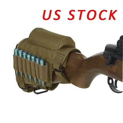 Tactical Rifle Butt Stock Cheek Rest Pad Left/Right Hand Ammo Carrier Bag Pouch