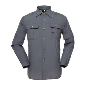 Mens casual quick dry jacket fishing shirt anti uv sun for Uv protection fishing shirts
