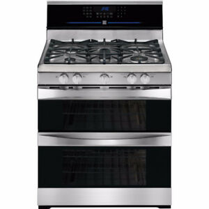 NEW Kenmore Elite Double-Oven Gas Range Stainless