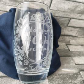 40th birthday tumbler glass