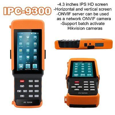 Ipc-9300 4.3 Inch Horizontal Vertical Ip Camera Monitor Tester Onvif Dc 12v 2a