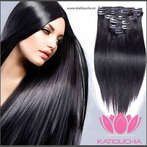 CLIP IN hair extensions,VIRGIN REMY HUMAN HAIR 7A,7 pcs Set