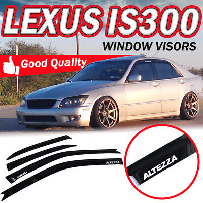 Sun Window (For 01-05 Lexus IS300 4 Door Sun Window Visor Dark Smoke Slim Style ALTEZZA )