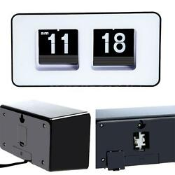 Retro Auto Flip Clock Classic Stylish Modern Desk Wall Digital Clock Widely Used