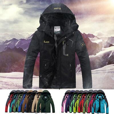 2018Winter Inner Fleece Waterproof Jacket Outdoor Sport Warm Coat Hiking Camping