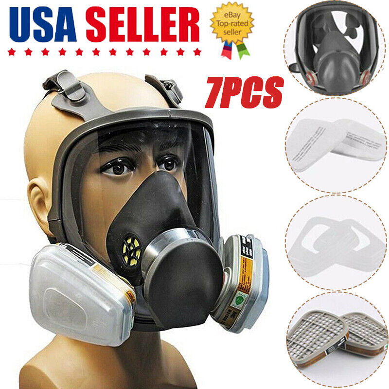 For 6800 Facepiece Protector Full Face Guard Painting Spraying Gas Filter 7 IN 1