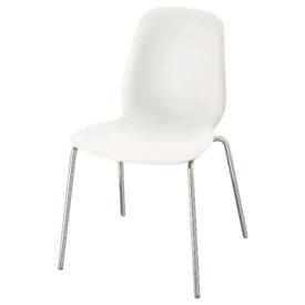 White IKEA Leifarne Dining Chairs