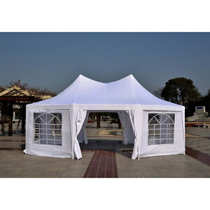 22ft Octagonal Party Tent Wedding Event Gazebo Canopy Removable