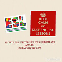 ESL certified English tutor