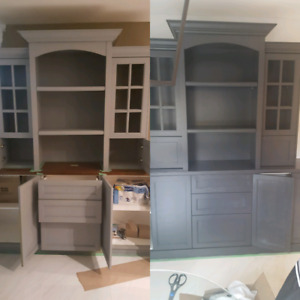 Kitchen Cabinet painting or refacing starting at $800.