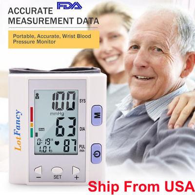 Automatic Wrist High Blood Pressure Cuff BP Monitor Gauge Sensor Machine tester