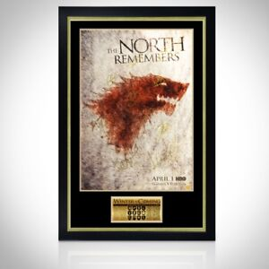 GAME OF THRONES 'NORTH REMEMBERS' Signed Poster Custom Frame