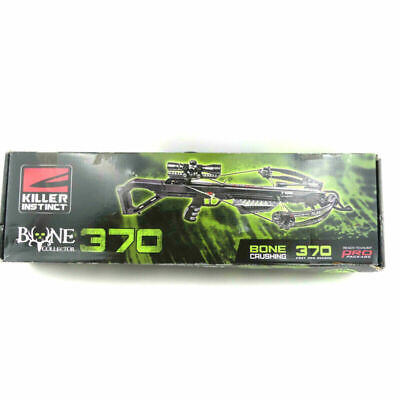 Killer Instinct Bone Collector 370 Crossbow with Scope & Bolts New Open Box