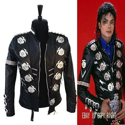 Michael Jackson Classic BAD Jacket With  Punk Matel Exactly Same High Fashion