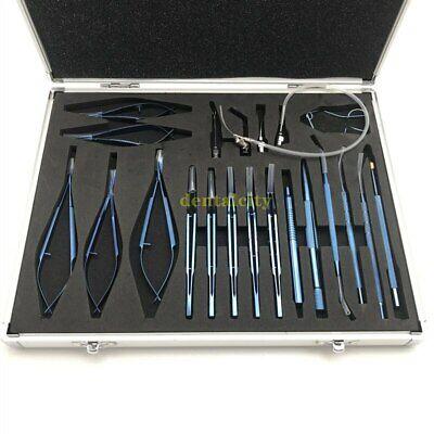 21pcs Titanium Cataract Set Ophthalmic Microsurgery Instrument
