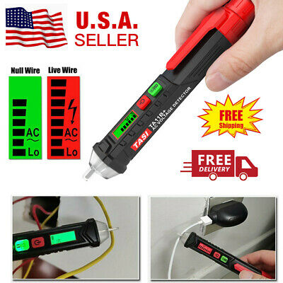 12-1000v Ac Detector Non-contact Lcd Pen Tester Pencil Test Electric Voltage