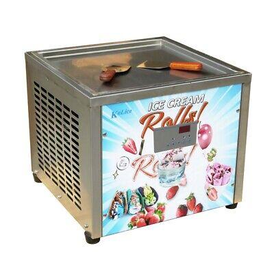 Desktop 45x45cm 18x18 Single Square Pan Fried Ice Cream Machinefry Yogurt