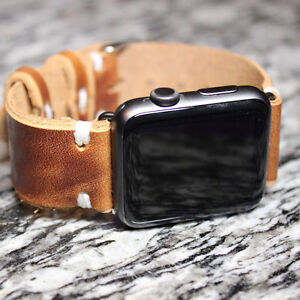 42mm Space Grey Apple Watch Sport with Leather Band