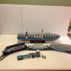 LEGO Maersk Train #10219 & Maersk Line Triple-E #10241